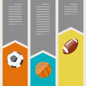 Sports infographics optional banners. — Stock Vector