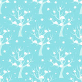 Seamless pattern with winter trees. — Stock Vector