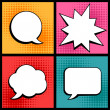 Stock Vector: Set of speech bubbles in pop art style.