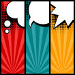 Set of speech bubbles in pop art style. — Vector de stock  #40410999