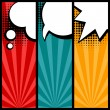 Set of speech bubbles in pop art style. — Stock vektor #40410999