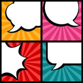 Set of speech bubbles in pop art style. — Stock Vector