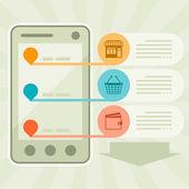 Internet shopping concept illustration. — Vector de stock
