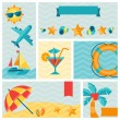 Stock Vector: Travel and tourism icon set.