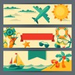 Stock Vector: Travel and tourism horizontal banners.
