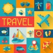 Travel and tourism background in flat design style. — Stock Vector #41491591