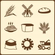 Cereal cultivation and farming icon set. — Stock Vector #41984601