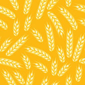 Seamless pattern with ears of wheat. — Stock Vector