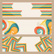 Hipster style horizontal banners. — Stock Vector