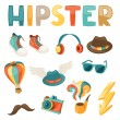 Hipster style elements and objects set. — Stock Vector #42389023