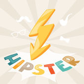 Design with lightning in hipster style. — Stockvector