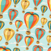 Retro seamless travel pattern of balloons. — Stock Vector