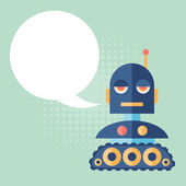 Design robot says something. — Stockvector