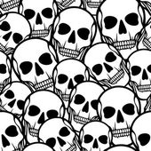 Seamless pattern with skulls. — 图库矢量图片