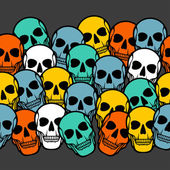 Seamless pattern with skulls. — Vettoriale Stock