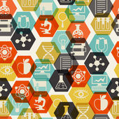 Science seamless pattern in flat design style. — Vetorial Stock