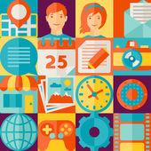 Social media concept illustration in flat design style. — Vettoriale Stock