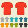 Set of templates colored t-shirts for men. — Stock Vector #43897057