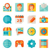 Icons web and mobile applications in flat design style. — Stock Vector