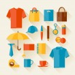 Icon set of promotional gifts and souvenirs. — Vettoriale Stock  #44057107