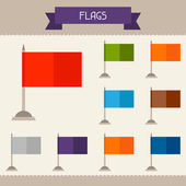 Flags colored templates for your design in flat style. — Stock Vector