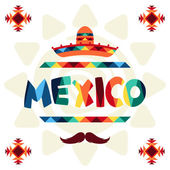 Ethnic mexican background design in native style. — Stock Vector