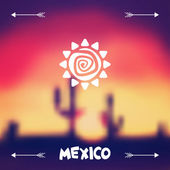 Ethnic mexican background design in native style. — Stockvektor