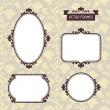 Vintage background photo frames with decorative ornament. — Stock Vector