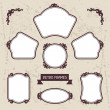 Vintage background photo frames with decorative ornament. — Stock Vector #45280301