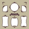 Vintage background photo frames with decorative ornament. — Stock Vector #45280377