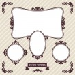 Vintage background photo frames with decorative ornament. — Stock Vector #45280397