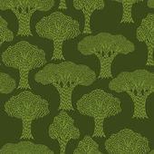 Padrão sem emenda têxtil abstrata com várias árvores. — Vetorial Stock