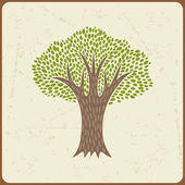 Abstract background with stylized tree in retro style. — Wektor stockowy