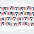 United States of America Independence Day seamless pattern. — Stock Vector