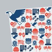 открытка день независимости соединенных штатов америки. — Cтоковый вектор