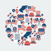 United States of America Independence Day greeting card. — Stock Vector