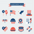 United States of America Independence Day icon set. — Stock Vector #47296313