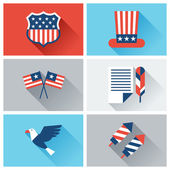 United States of America Independence Day icon set. — Stock Vector