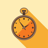 Icon retro watch in flat design style. — Stock Vector