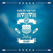 United States of America Independence Day greeting card. — Vector de stock