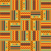 Ethnic ornament abstract geometric seamless fabric pattern. — Stock Vector