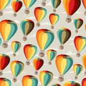 Seamless travel pattern of hot air balloons. — Stock Vector