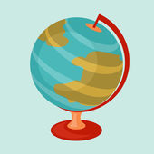 Education icon cartoon abstract stylized school globe. — Vecteur