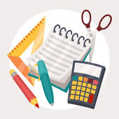 Education illustration design of school supplies icon. — Stock Vector