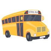 Illustration of yellow school bus in cartoon style. — Stockvektor