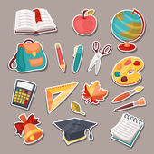 School and education icons, symbols, objects set. — Stock Vector