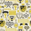 Sports seamless pattern with tennis icons in flat design style. — Stock Vector #48713399