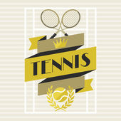 Sports background with tennis in flat design style. — ストックベクタ