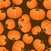 Seamless vector pattern with fresh ripe pumpkins. — Vector de stock