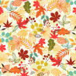 Seamless vector pattern with stylized autumn leaves. — Stock Vector #49680333